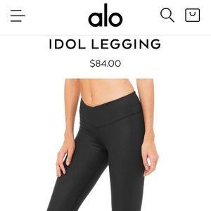 ALO YOGA Idol Legging- Black, Sz Small
